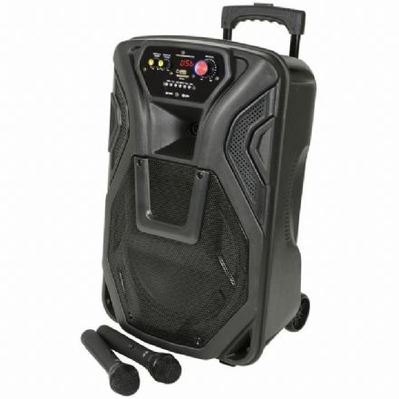 "QTX Busker 12"" Portable PA System with Wireless Microphones and Bluetooth"